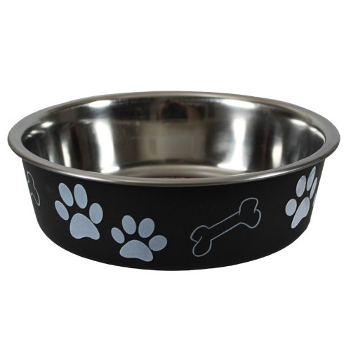 hundenapf trink fressnapf hund katze anti rutsch futternapf edelstahl napf 23cm ebay. Black Bedroom Furniture Sets. Home Design Ideas