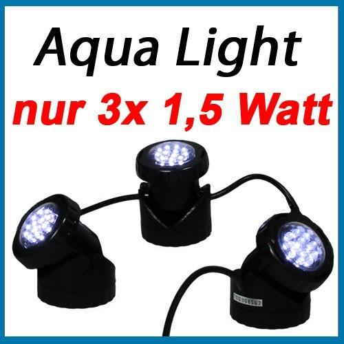 heissner u 130 3er set unterwasserbeleuchtung led teich licht gartenbeleuchtung ebay. Black Bedroom Furniture Sets. Home Design Ideas