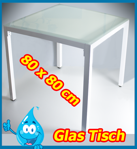 gartenm bel garten tisch beistelltisch glas esstisch terasse 80x80 ebay. Black Bedroom Furniture Sets. Home Design Ideas