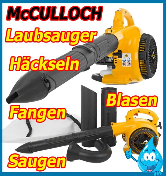 mc culloch mac gbv 325 benzin laubsauger h cksler laubbl ser fangsack bl ser ebay. Black Bedroom Furniture Sets. Home Design Ideas