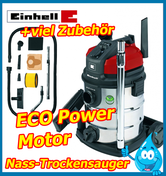 einhell nass trockensauger rt vc 1525 staub sauger industrie allessauger eco ebay. Black Bedroom Furniture Sets. Home Design Ideas