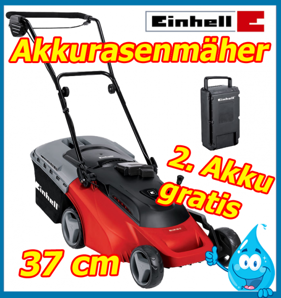 einhell rg cm 36v lithium ionen akku rasenm her elektro. Black Bedroom Furniture Sets. Home Design Ideas